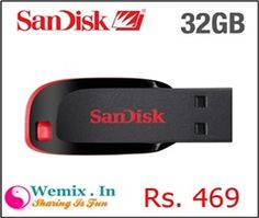 Sandisk Cruzer Blade 32GB Pendrive Rs 469