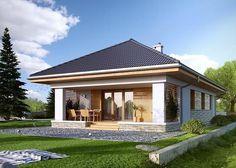 Projekt domu: Decyma 3 - Widok od ogrodu
