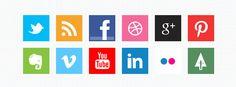 Minimal Social Media Icons | Best PSD Freebies