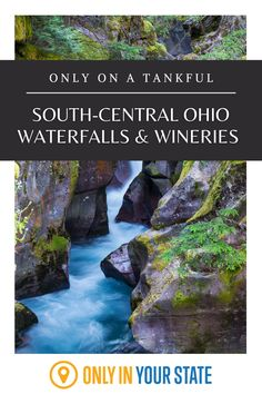 Take this mini road trip to a wonderful winery and beautiful waterfall in South-Central Ohio. One Day Trip, Day Trips, Ohio Waterfalls, Ohio Attractions, The Buckeye State, Beautiful Waterfalls, Haunted Places, Covered Bridges, Vacations