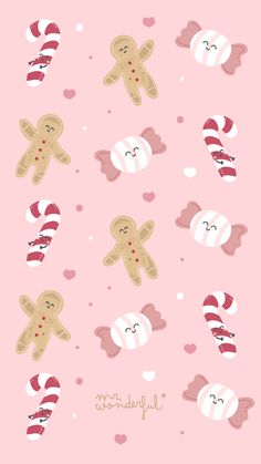 Looking for for inspiration for christmas aesthetic?Browse around this site for cool Christmas inspiration.May the season bring you serenity. Candy Wallpaper, Kawaii Wallpaper, Pattern Wallpaper, Iphone Wallpaper, Animal Wallpaper, Christmas Phone Wallpaper, Winter Wallpaper, Holiday Wallpaper, Christmas Phone Backgrounds