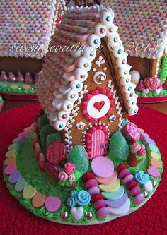 Gingerbread candyland with a feminine touch