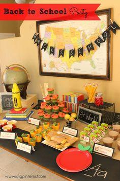 I Dig Pinterest: Back to School Kids Party