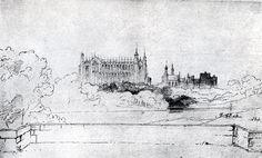 Eton College Chapel. by John Ruskin (1819-1900)