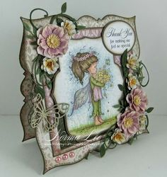 """From My Craft Room: Thank You Card - Magnolia-licious """"W""""ednesday #40"""