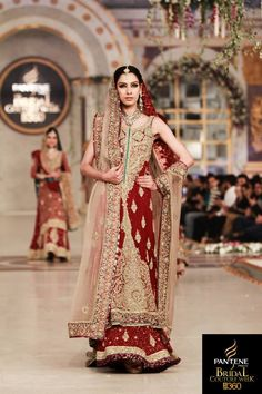 Mehdi Bridal Wear Outfits At Pantene Bridal Couture Week Lahore 013 : Globalemag