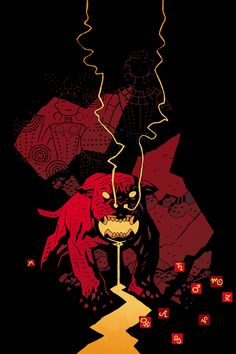 Evil Hell Hound by Mike Mignola