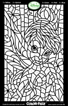 Crayola Coloring Pages Winter Inspirational Disney Fairies Tinkerbell Mosaic Tinkerbell Coloring Pages, Crayola Coloring Pages, Fairy Coloring Pages, Disney Coloring Pages, Free Printable Coloring Pages, Free Coloring Pages, Coloring Sheets, Coloring Books, Alphabet Coloring