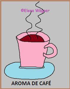 """Botón """"aroma de café"""". La cocinera almidonera decide que los visitantes de su blog, tienen que poder tomarse un cafecito en condiciones, de ahí que habilite este botón."""