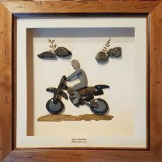 Motocross from pebbles #bristishmasters #motocross #motorcycle #enduro #art #pebbleartist