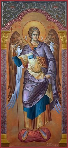 The Holy Archangel Michael, Commander of the Angelic Hosts. Religious Images, Religious Icons, Religious Art, Byzantine Art, Byzantine Icons, Archangel Raphael, Raphael Angel, Angels In Heaven, Angels And Demons