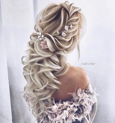 40 Super Cute Wedding Hairstyles For Your Biggest Day - beautiful hair styles for wedding Wedding Hairstyles For Long Hair, Wedding Hair And Makeup, Bride Hairstyles, Bridal Hair, Hair Wedding, Hairstyle Ideas, Hairstyle Wedding, Hair For Bride, Pretty Hairstyles