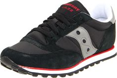 Saucony Originals Men's Jazz Low Pro Sneaker,Black/Grey/Red,11 M US