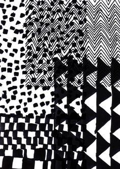 Patterns blending into each other. Motifs Organiques, Motifs Textiles, Textile Patterns, Textile Prints, Monochrome Pattern, Black White Pattern, Black And White Design, White Patterns, Monochrome Print
