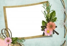 Фоторамки. Аккуратное обрамление в окружении незатейливых цветочков для фотографии малыша.