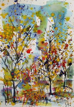 Stanislav Bojankov - Paintings for Sale Ink Painting, Watercolor And Ink, Paintings For Sale, Art School, Abstract Art, Landscape, Artwork, Oil, Free Shipping
