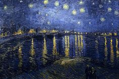 Vincent van Gogh Starry Night over the Rhone art painting for sale; Shop your favorite Vincent van Gogh Starry Night over the Rhone painting on canvas or frame at discount price. Vincent Van Gogh, Claude Monet, Van Gogh Pinturas, Georges Seurat, Most Famous Paintings, Famous Artists, Famous Artwork, Modern Paintings, Pastel Paintings