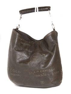 Chanel Graffiti Calfskin Mademoiselle Hobo Bag $1,840