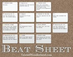 Outline : your story's Beat Sheet writing outlining plot & structure