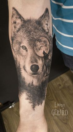 By @loonygerard, Poland Tattoo Wolf