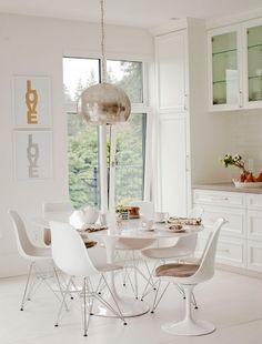 Cocinar en blanco.  Proyector En El Diseño Interior Cruz de vivo Simplemente porción Annie