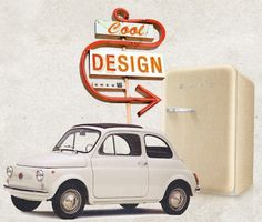 Classic Fiat 500 Cars Get Turned Into 'Cool' Fridges - DesignTAXI.com