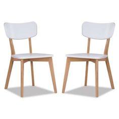 Conjunto 2 Cadeiras de Jantar Branca Lindholm