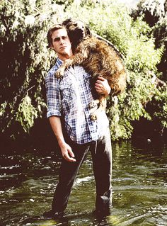 """""""Gosling's great love, he says mushily, is his dog George."""""""