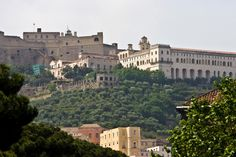 The Monastary of San Martino with the Castle St Elmo behind it on the Vomero hill, Naples. Naples Italy, Elmo, Italy Travel, Things To Do, Castle, Tours, San, Activities, Check