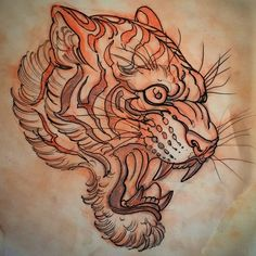 Le Tigre #tiger #tattoo #drawing