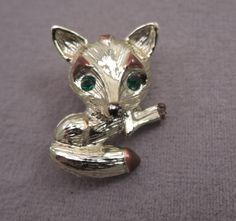 Adorable Signed Gerry Fox Pin c1960s by thejeweledbear on Etsy
