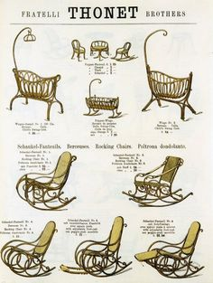 Thonet bentwood furniture catalog page