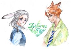 Zootopia - Nick and Judy by Mitsuyuki32.deviantart.com on @DeviantArt