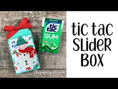Tic Tac Slider Box Tutorial - The Paper Pixie Stampin Up Christmas, Christmas Paper, Christmas Crafts, Christmas Eve, Christmas Ideas, Retreat Gifts, Slumber Party Games, Paper Gifts, 3d Paper