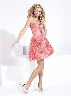 Sweetheart Strapless Drape Pink Short Prom Dress PD1292 www.simpledresses.co.uk £79.0000