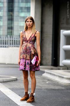 Veronika Heilbrunner in a cool dress  #StreetStyle
