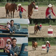 Amy: All right, Hotshot, you ready to have some fun? Ty: There he goes! See that, Katie? Amy: Come on! Look at him! He knows the pattern! He just doesn't want to be told! Ty: Oh, he's picking up speed! Amy And Ty Heartland, Heartland Tv Show, Second Of Summer, Have Some Fun, See It, Tv Shows, Drama, Horses, Nice