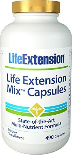 Life Extension Life Extension Mix Capsules 490 capsules MultiPack * Click on the image for additional details. (This is an affiliate link) #Multivitamins