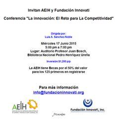 """Conferencia """"La innovación: El Reto para La Competitividad"""" - Publicidad"""