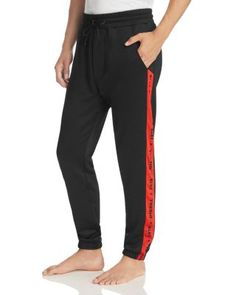 Dmartin Jogger Pants, Black With Red Stripe