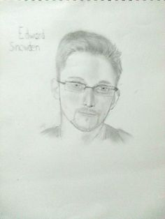 Okay, I wanted to try drawing Edward Snowden, and this is the outcome. What do you guys think? He looks attractive, that's why I drew him hahaha