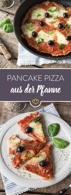 Schnapp dir deine Pfanne und verwandel Vollkornteig, Pizzasauce und Mozzarella in eine hausgemachte, köstliche Pancake Pizza!