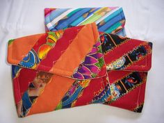 Quilted Coin Purse  Mini Coin Purse  Small Coin by Fiberartplus, $18.00