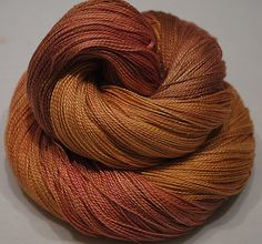 Hand Dyed Mulberry Silk Lace  weightGold Peach by BalDesFleurs, £8.20