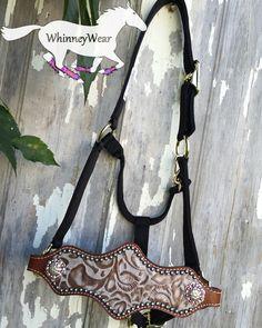 WhinneyWear tan floral bronc halter