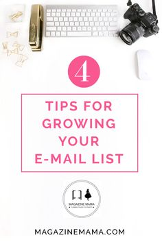 Are you looking to build your e-mail list?  Here are 4 great tips! http://www.magazinemama.com/blogs/editors-blog/15620088-4-ways-to-grow-your-e-mail-list