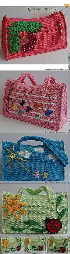 Вязаные летние сумки от Светланы Забелиной   Умелые ручки