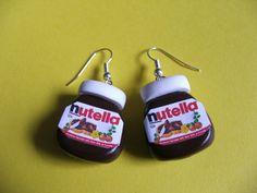 Nutella Jar Earrings van mixedupdolly op Etsy, $16.00