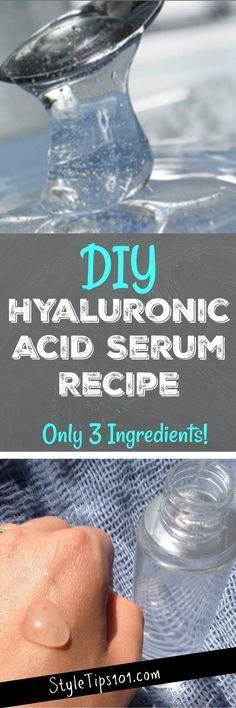 We've got an awesome DIY hyaluronic acid serum recipe you're going to love. Diy Skin Care, Skin Care Tips, Natural Beauty Remedies, Homemade Beauty Products, Curl Products, Facial Products, Beauty Recipe, Tips Belleza, Belleza Natural