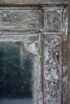 Painted Mirror Detail